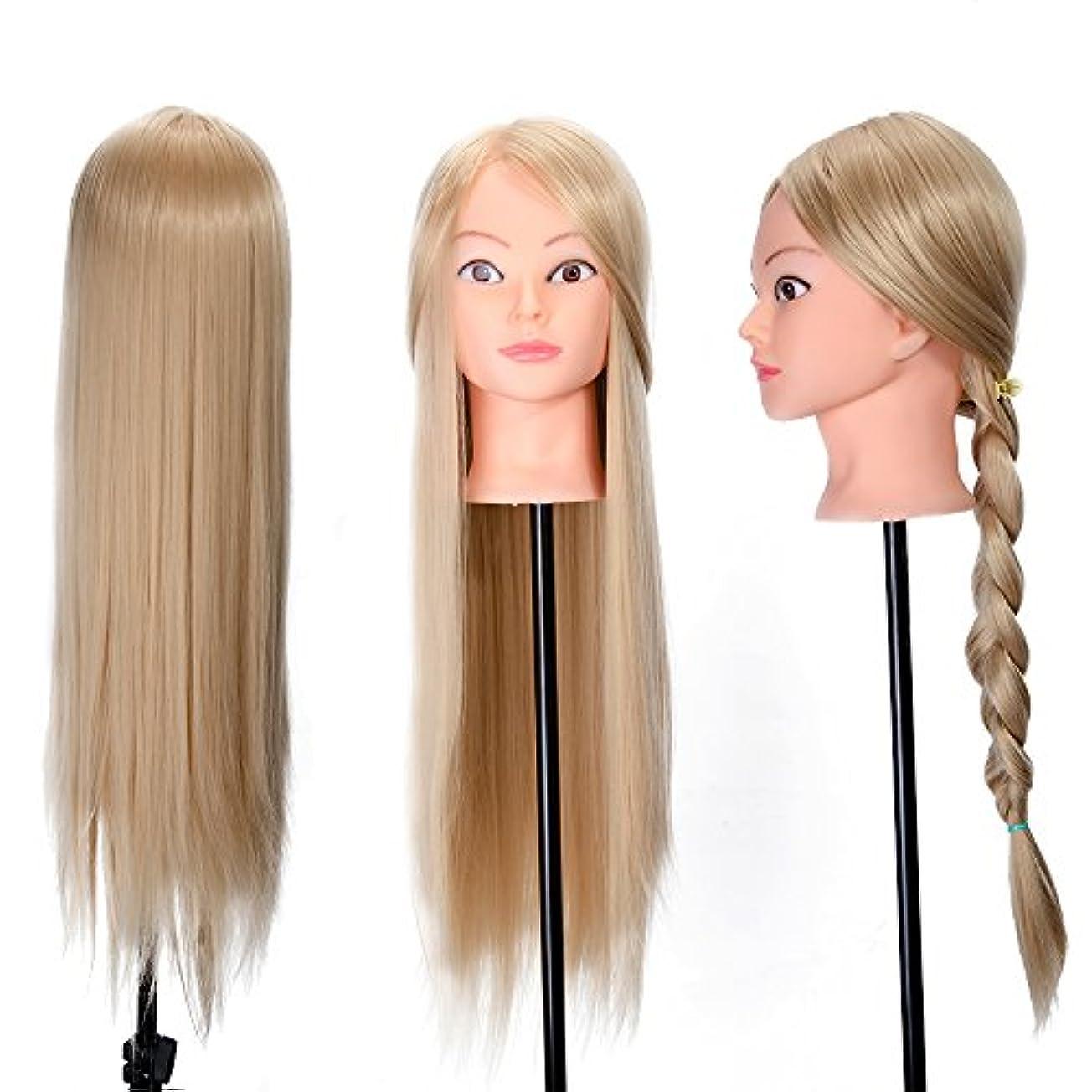 気性空中義務26インチトレーニングヘッドヘア編組モデルヘアスタイル人形でテーブルクランプサロンスタイリングデザインマネキンダミーヘッド