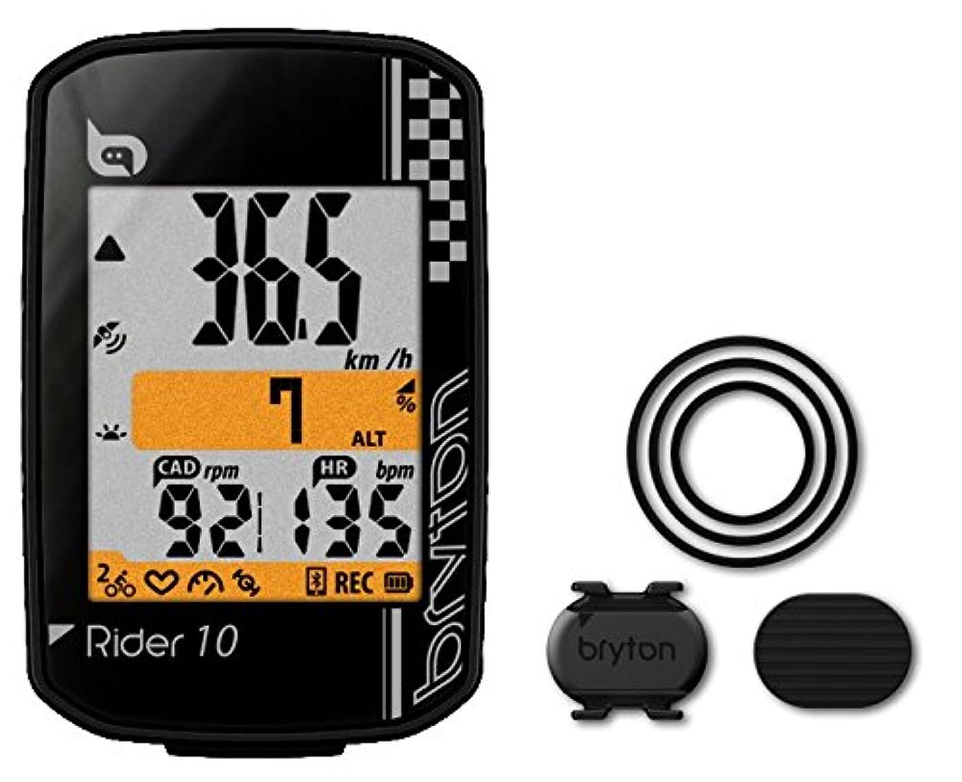 掃くアラームドラッグBRYTON(ブライトン) RIDER 10 C (ライダー10C) GPSサイクルコンピューター(ケイデンスセンサー付) ブラック TB0F0R010CBLK