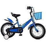 HAIZHEN キッズバイク, 少年のバイク、2?5歳の子供用自転車12 14 16インチマウンテンバイク(トレーニングホイールと両手ブレーキ付き) (Color : Blue, Size : 16inch)