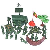 Hellery 陸軍模型 男性プレイセット 5cm 兵士 アクション フィギュア アクセサリー 親子玩具 男の子 プレゼント - 21個セット