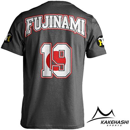 阪神タイガース公認 NEW選手出身国旗Tシャツ(Fujinami) (S, グレー)