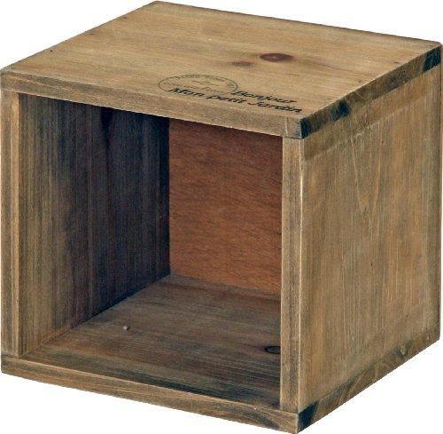 不二貿易 木製 収納 ボックス アンティーク風 ブラウン 91748