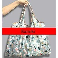 Ranoki エコバッグ 折りたたみ 買い物袋 防水素材 大容量 (HBD-002)
