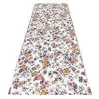 ZEMIN 廊下敷きカーペッ 絶妙な フローラル 新鮮な 長いです カーペット 吸収剤 滑り止め マット、 2色、 マルチサイズカスタム (色 : A, サイズ さいず : 1.2x2m)
