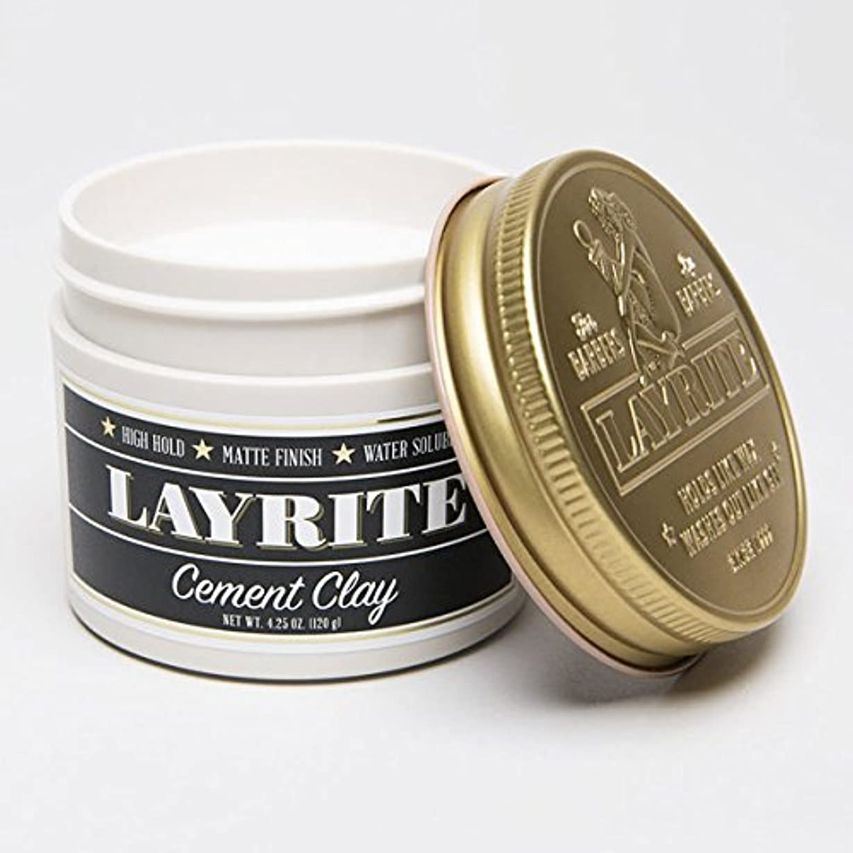 LAYRITE レイライト 【CEMENT HAIR CLAY Pomade】 水性ポマード セメントホールド 4.25OZ(約120G)