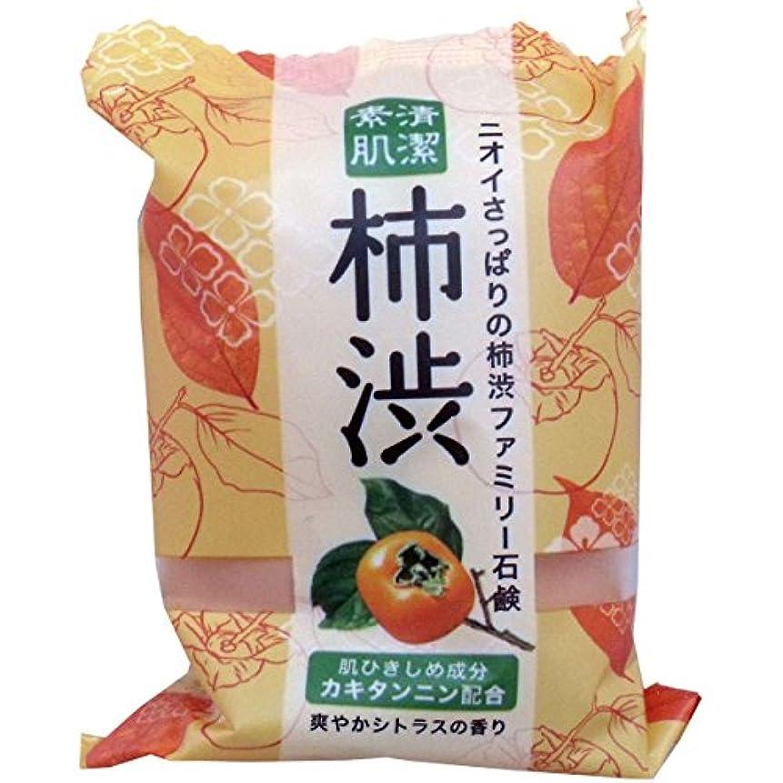 望まない安心させるリングレットペリカン石鹸 ファミリー柿渋石鹸(1個)