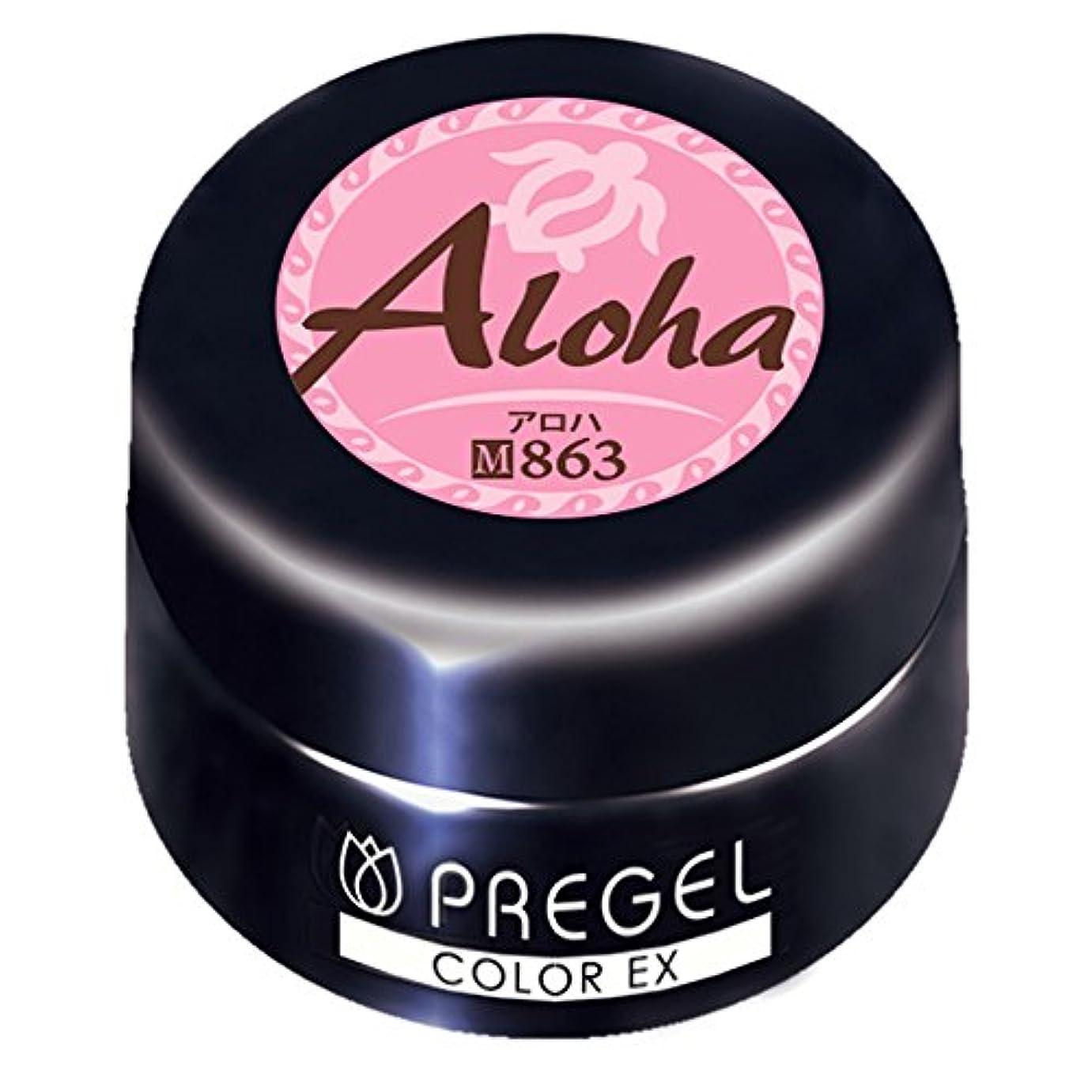 アクティブ一部代表するPRE GEL カラーEX アロハ863 3g UV/LED対応