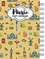 Music Sheet Notebook: Blank Staff Manuscript Paper with Unique Berlin Themed Cover Design
