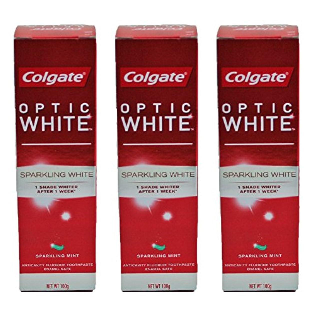 思春期スクワイア因子コールゲート オプティック ホワイト スパークリングシャイン 100g 3個セット [並行輸入品]