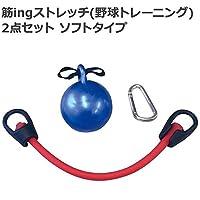 野球に必要な筋肉を鍛えるトレーニングに のセットです。 筋ingストレッチ(野球トレーニング) 2点セット ソフトタイプ BX85-72