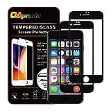 【ガイド枠付き】OAproda iPhone8 / 7 ガラスフィルム 液晶画面全面保護 【2枚セット】貼り付け簡単/指紋防止 / 3D Touch 4.7inch ブラック(黒)
