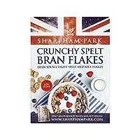 カリカリ綴らふすまフレーク375グラム (Sharpham Park) (x 2) - Sharpham Park Crunchy Spelt Bran Flakes 375g (Pack of 2)