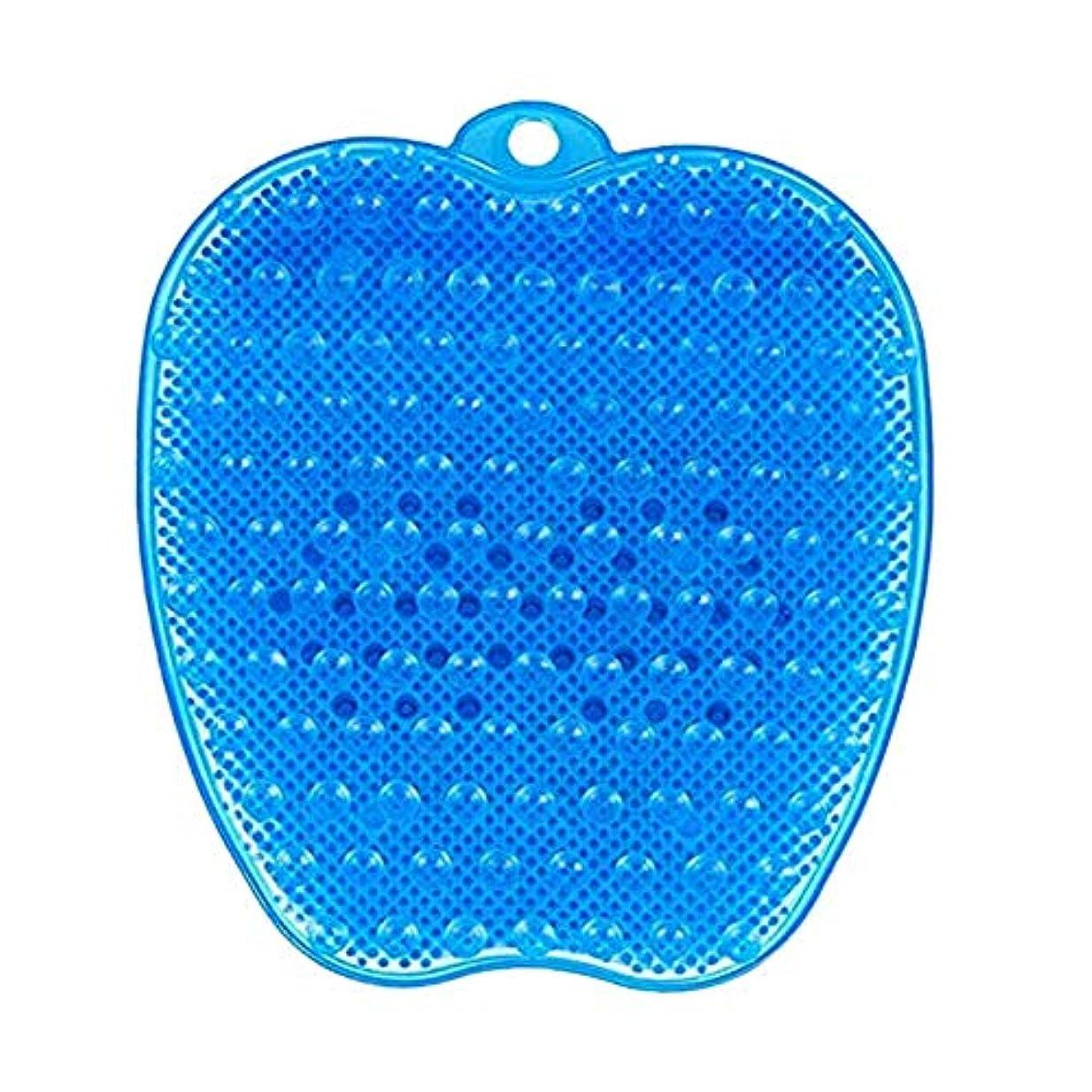 アフリカ反射要求LITI 足洗いマット 足洗いブラシ 滑らない吸盤付き フットケア フットブラシ 角質ケアブラシ お風呂で使える