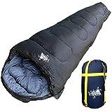丸洗いOK White Seek 寝袋 シュラフ マミー型 耐寒温度 -15℃ コンパクト収納