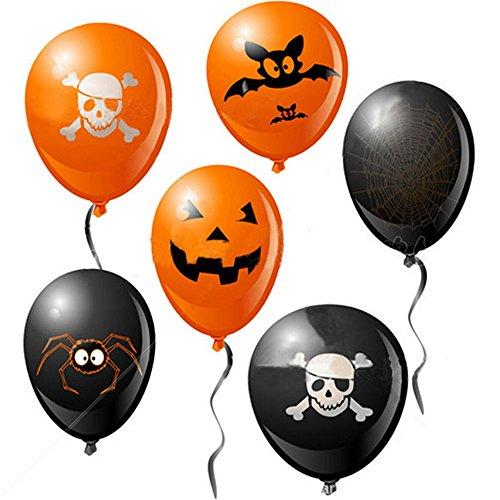 ハロウィン 風船 ふうせん 20枚セット バルーン イベント ハロウィンパーティー 装飾 かぼちゃ Halloween party balloon オレンジ&ブラック (20枚)