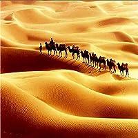 Mingld カスタム3D写真壁画壁紙ウォーキング砂漠のラクダの壁紙高品質の家の装飾リビングルームテレビソファ背景-120X100Cm