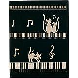 ナカノ ミュージックレッスンファイル 猫と鍵盤 FL-95/CK/BL