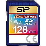 シリコンパワー SDXCカード 128GB Class10 UHS-1対応 最大読込速度85MB/s 防水 永久保証 Elite SP128GBSDXAU1V10