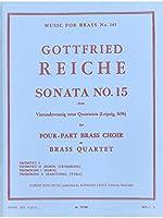 Gottfried Reiche: Sonata No.15 (Brass Quartet) (Score/Parts). For ブラス・アンサンブル
