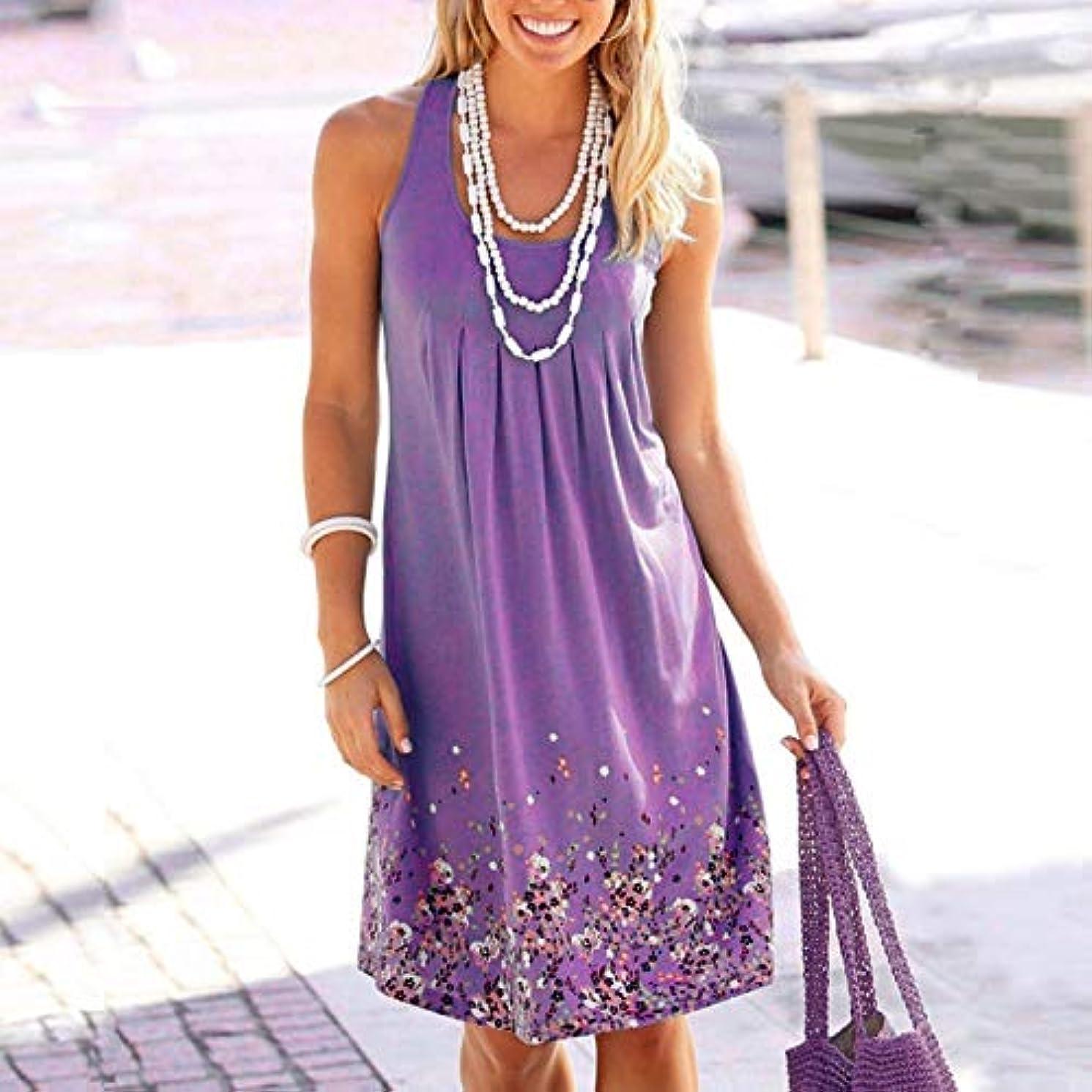 回路高原オゾンMaxcrestas - ノースリーブ花柄を印刷ルースドレスファッション六色カジュアルの女性のドレスローブファムエテ2018セクシーなドレスプラスサイズ