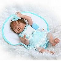 解剖学的に正しいガールRebornベビー人形フルボディシリコンリアルな20インチSleeping Real Born人形磁気おしゃぶり子供おもちゃ
