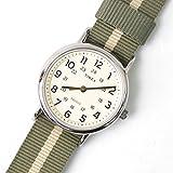 (タイメックス) TIMEX ウィークエンダー セントラルパーク 腕時計 CLOCK ダイアル グリーン シルバー シンプル ナイロン ストラップ メンズ レディース TW2P72100 [並行輸入品]
