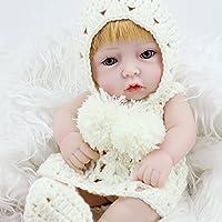 zinnor 11インチMini Realistic Lifelikeベビー人形ハンドメイドビニール赤ちゃんおもちゃ趣味 – Cute Baby Boy Girl Toy – 子供のためのギフト最適、妹、姪