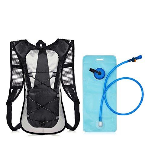 VBIGER サイクリングバッグ バックパック 軽量 自転車バッグ ランニング ウォーキング ジョギング ハイキングリュック+2L给水袋