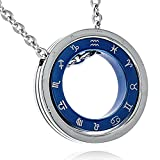 [ナピスト] ネックレス メンズ 316L サージカルステンレス 12星座 ブルー リング 50cm チェーンNapist([ナピスト]) N224