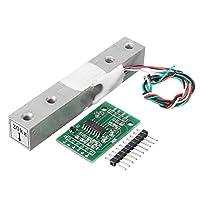Prament 5袋 HX711 モジュール + 20kg アルミ合金スケールセンサーロードセルキット Arduino の計量