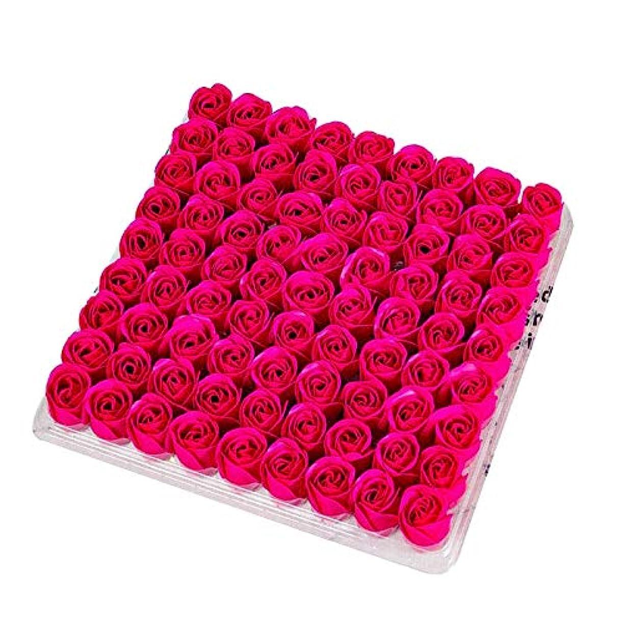 の配列大腿辛なCUHAWUDBA 81個の薔薇、バス ボディ フラワー?フローラルの石けん 香りのよいローズフラワー エッセンシャルオイル フローラルのお客様への石鹸 ウェディング、パーティー、バレンタインデーの贈り物、薔薇、ローズレッド