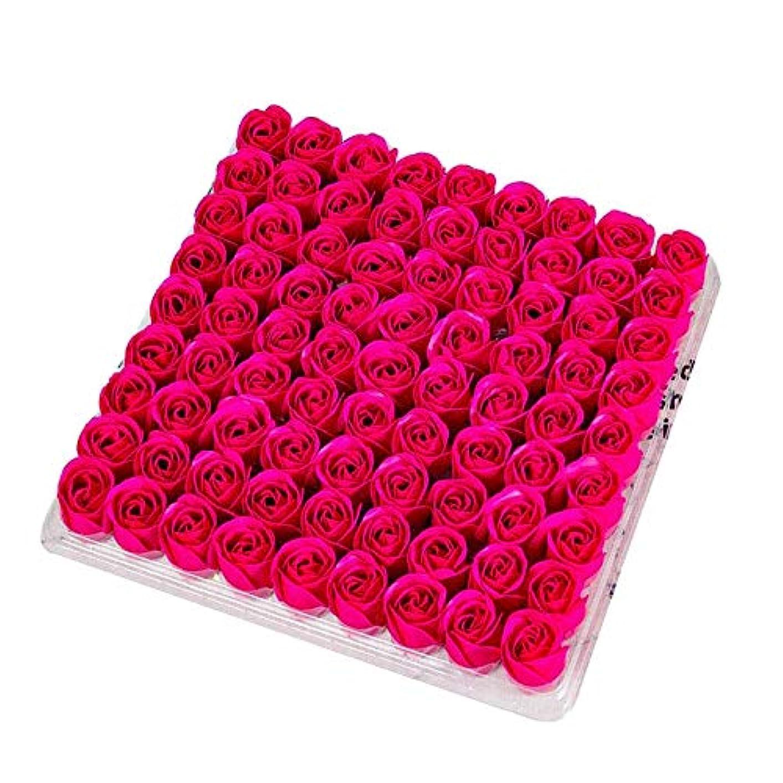 セールミシン目定常CUHAWUDBA 81個の薔薇、バス ボディ フラワー?フローラルの石けん 香りのよいローズフラワー エッセンシャルオイル フローラルのお客様への石鹸 ウェディング、パーティー、バレンタインデーの贈り物、薔薇、ローズレッド