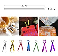 Bluee : New Arrival 800pcs Metallic Twist Ties Wire For Cake Pops Gift Candy Sealing Cello Bags Pack