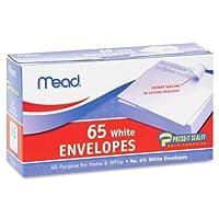 Wholesale CASE of 25–Meadプレーンホワイトself-sealビジネスenvelopes-plain封筒、NO 6.75、自己シール、65/ BX、ホワイト