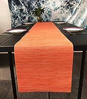 OSVINO テーブルランナー プレースマット 30 x 180cm 撥水 多色選べる 断熱 防汚 食卓に飾るだけで特別な雰囲気を演出する 1枚セット 清潔しやすい 北欧風 おもてなし オレンジ 1×テーブルランナー
