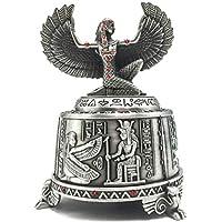 4.5」メカニズム回転ミュージカルボックスWind Up Egyptian Goddess Isisメタル音楽ボックスwith 3d Carvingsベース、音楽ボックスギフトforクリスマス/誕生日/バレンタインの日