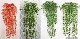壁掛け 吊り 人工観葉植物 造花 インテリア 癒しのグリーン 2本セット/V438 (アイビー)