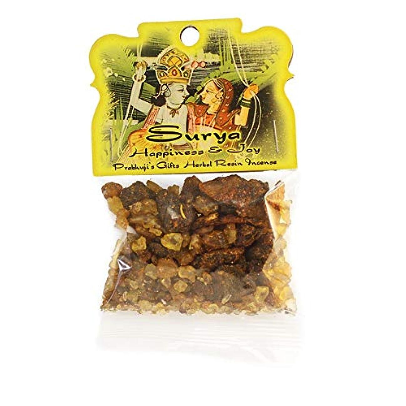 ソビエト専門用語前投薬樹脂Incense Surya – Happiness and Joy – 1.2ozバッグ