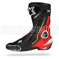 alpinestars(アルパインスターズ)バイクブーツ ブラック/レッドフロー/ホワイト/イエローフロー 46/30.0cm SMX PLUS(SMXプラス)ブーツ1015 1691320746