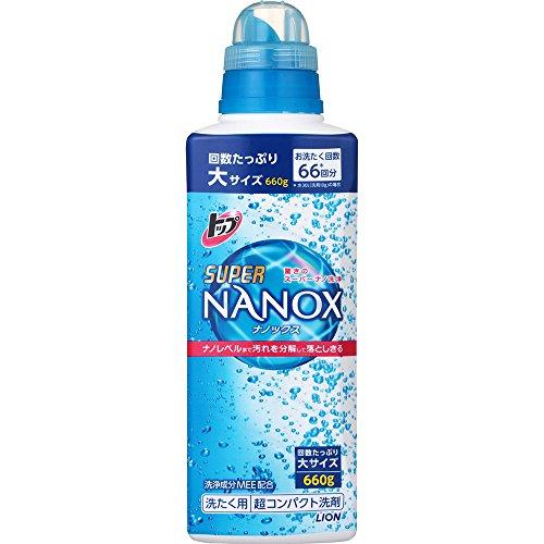 トップ スーパーナノックス 洗濯洗剤 液体 本体大ボトル 660g