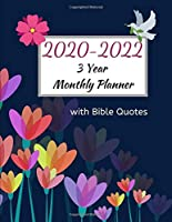 2020-2022 3 Year Monthly Planner with Bible Quotes: Inspirational Daily Desk Calendar, Journal, and Book for Men, Women, Teens and Kids