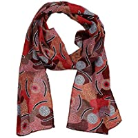 100% Chiffon Fashionable Woman Scarf Chiffon Material, Light and Wrinkle Free. Made in Australia.