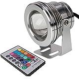Eaglerich 2pcs 7色10W 12V RGB LEDの水中防水噴水ライト1000LMプール池水槽のアクアリウムLEDライトランプIP67