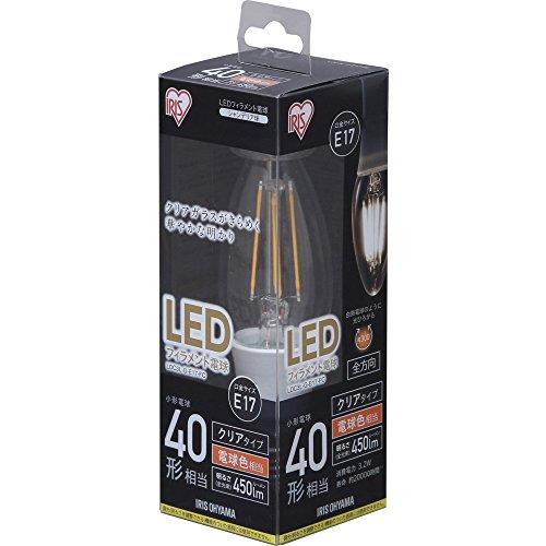 アイリスオーヤマ LED電球 フィラメント 口金直径17mm...