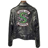 Girls Riverdale Southside Serpents Biker Gang Black Leather Jacket for Girls-1