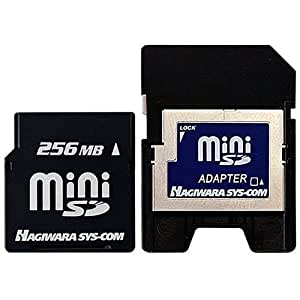 ハギワラシスコム miniSDメモリーカード HNT-MN256TA 256MB