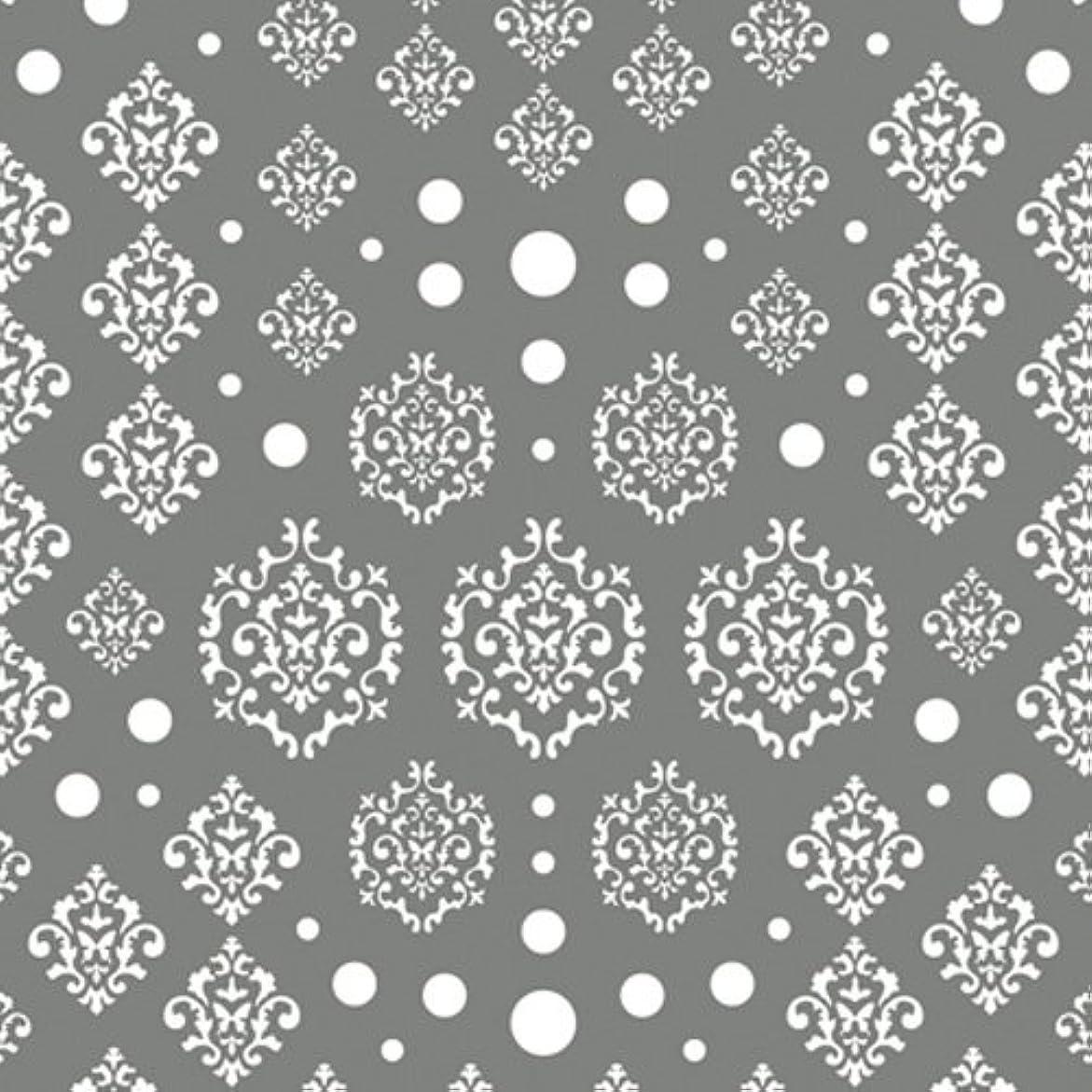 週末色ハチツメキラ(TSUMEKIRA) ネイル用シール agehaダマスク ホワイト NN-AGE-101