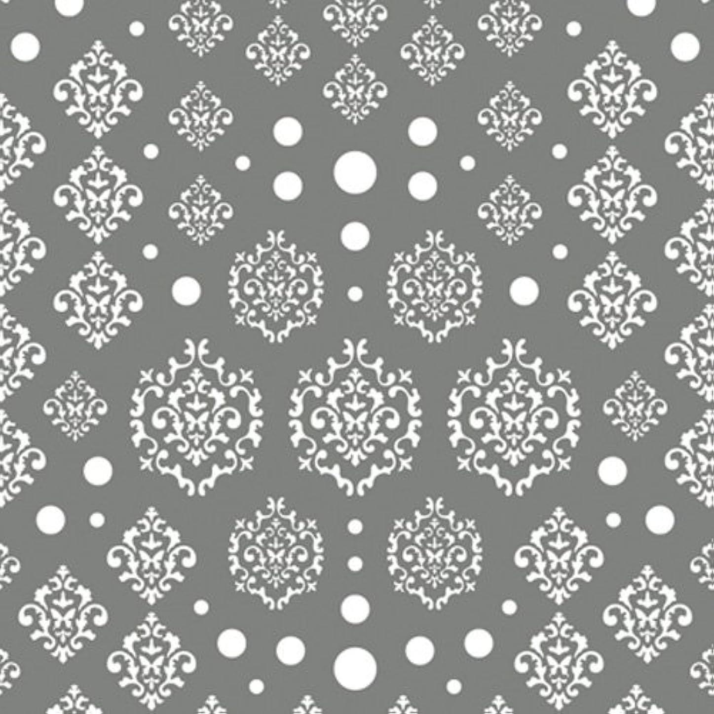 幻影真夜中穴ツメキラ(TSUMEKIRA) ネイル用シール agehaダマスク ホワイト NN-AGE-101