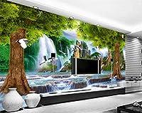 壁画壁紙写真壁紙風景画自然滝風景壁画リビングルームの背景3D壁紙