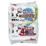 激落ちくん 流せる 除菌99.9% トイレクリーナー (24枚入×4パック) ・ アルコール&銀イオンのW除菌